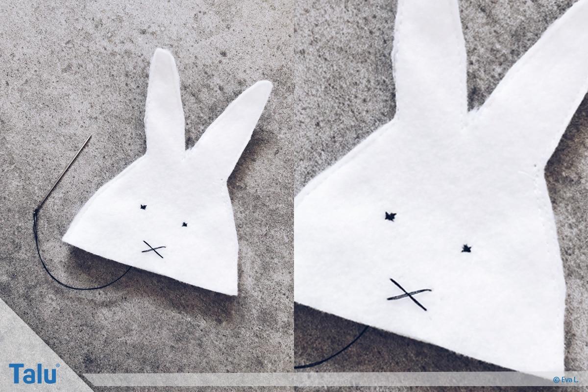 Eierwärmer nähen, fertiger Eierwärmer als Hasen-Form
