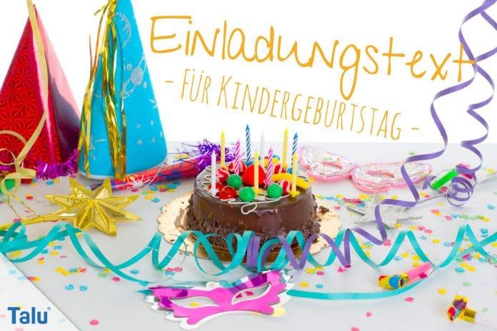 Einladungstext für Kindergeburtstag, Ideen