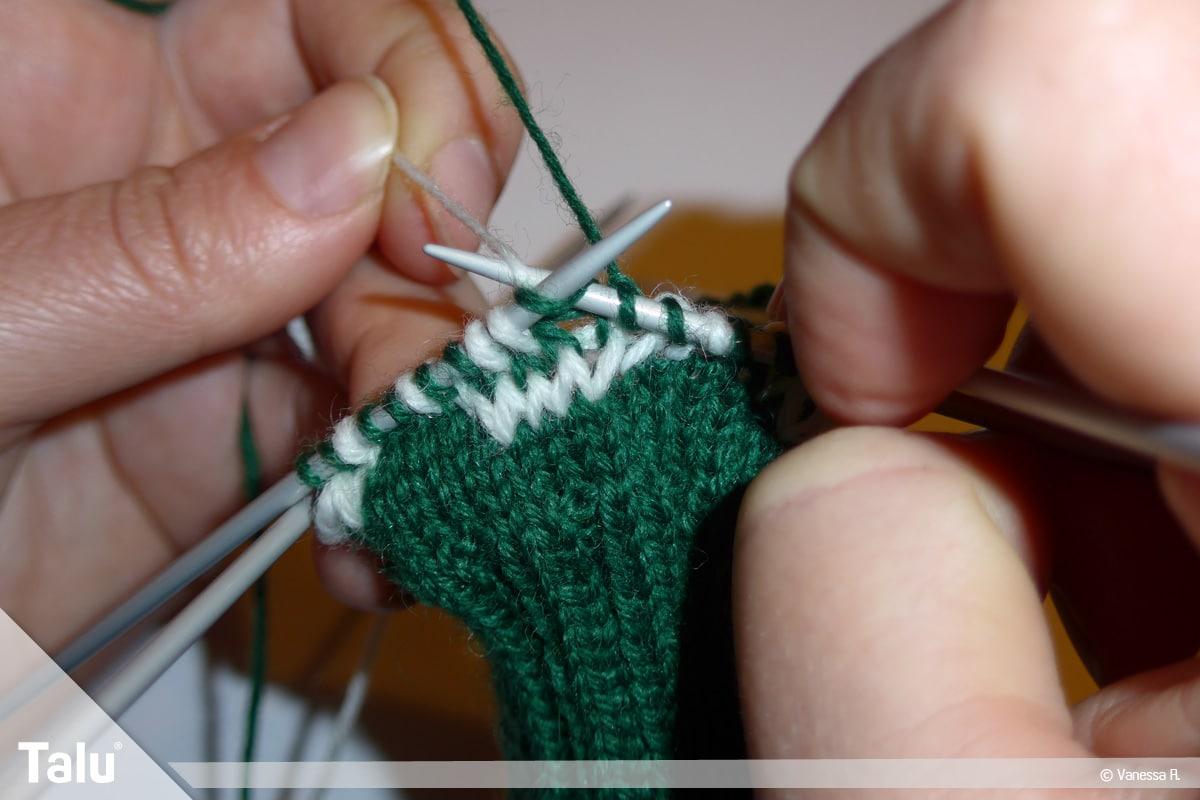 Gestrickte Socken, Norwegermuster, Norwegermuster stricken
