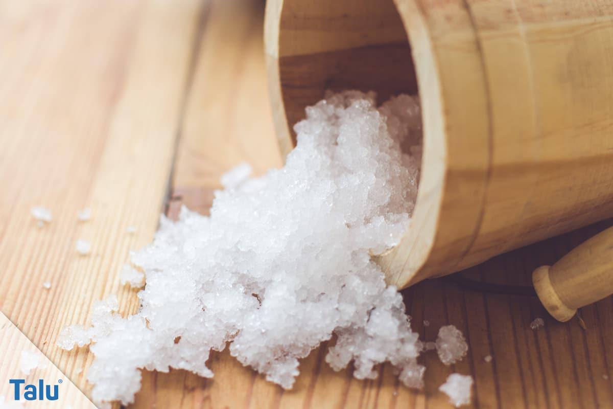 Kochsalzlösung, Haltbarkeit, Salz