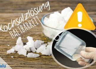 Kochsalzlösung, Haltbarkeit selbst gemachter Salzlösung