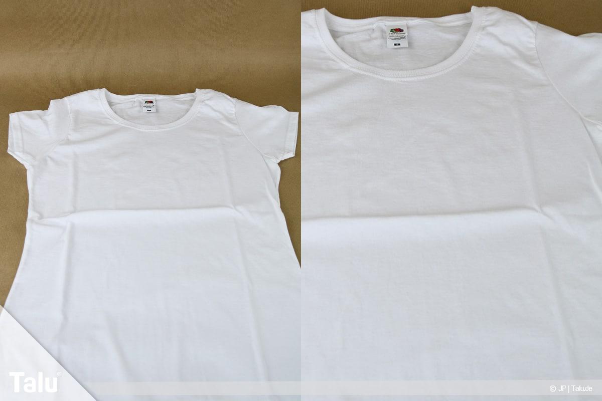 T-Shirt selbst bedrucken, mit Lavendelöl, Shirt vorbereiten und ausbreiten