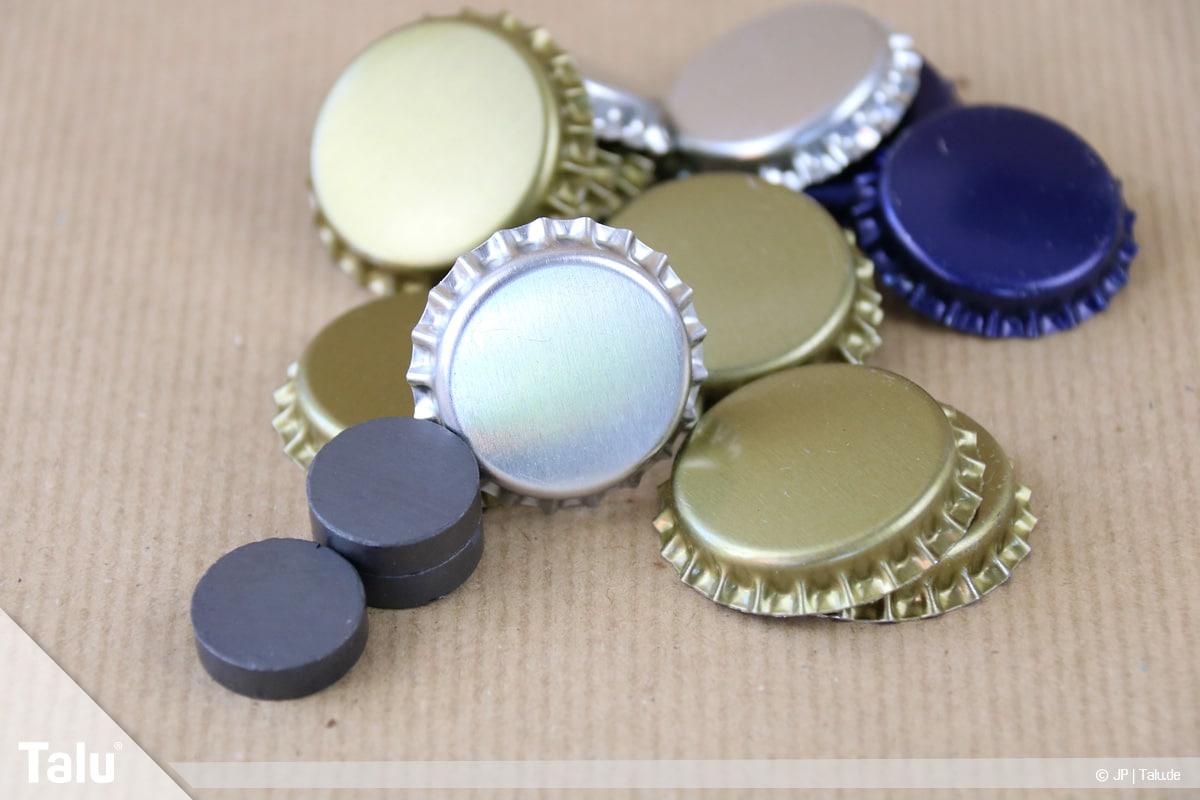 Basteln mit Kronkorken, Variante Magnete, Material