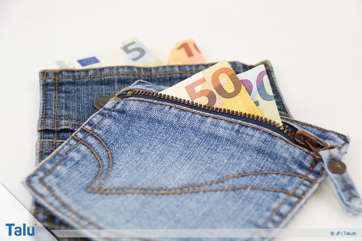 Geldgeschenke und Gutscheine originell verpacken, Stoff- oder Jeanstaschen