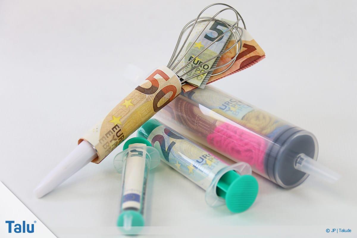 Geldgeschenke und Gutscheine originell verpacken, Variationen