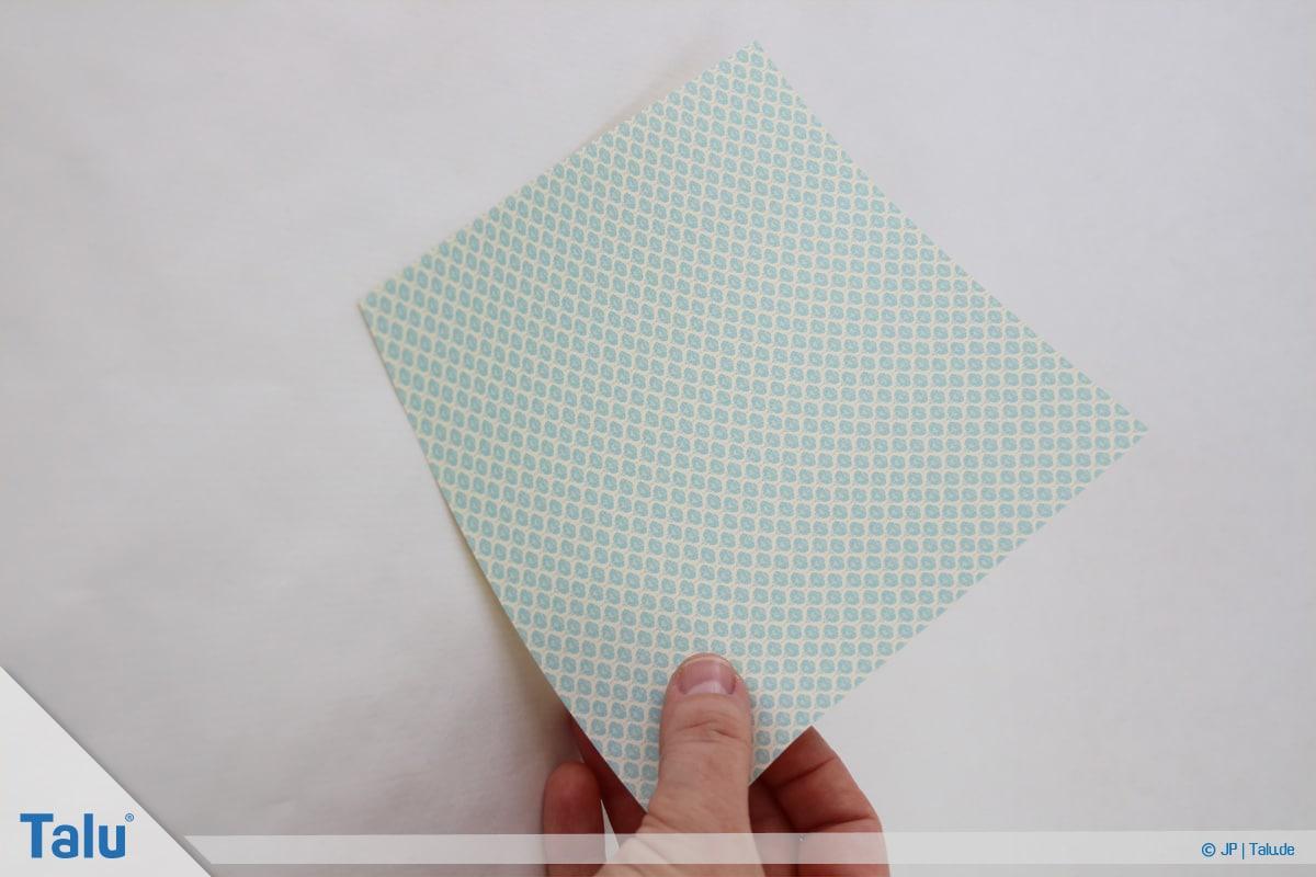 Papierrosen basteln, Anleitung, Einfache Papierrosen, Beginn