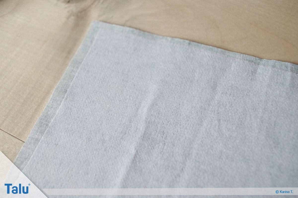 Bettutensilo nähen, Anleitung Betttasche, Stoffteile bügeln