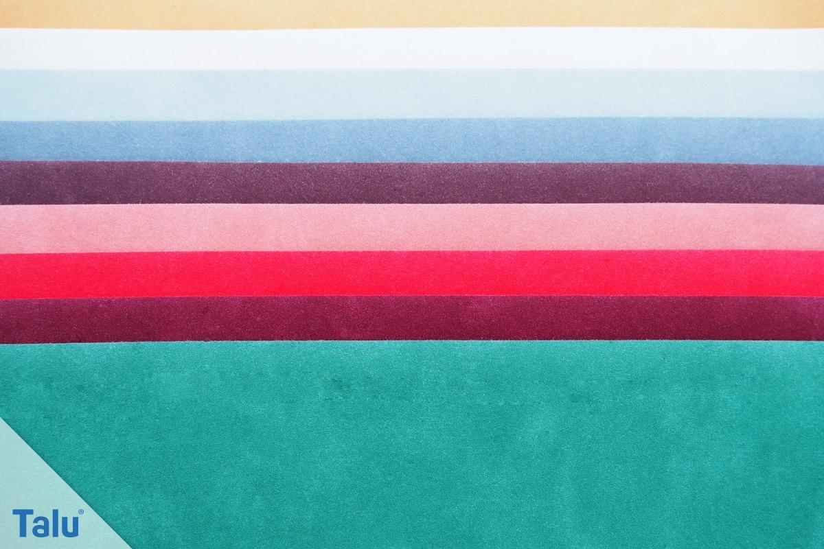 Bügelfolie verwenden, Flockfolie in verschiedenen Farben