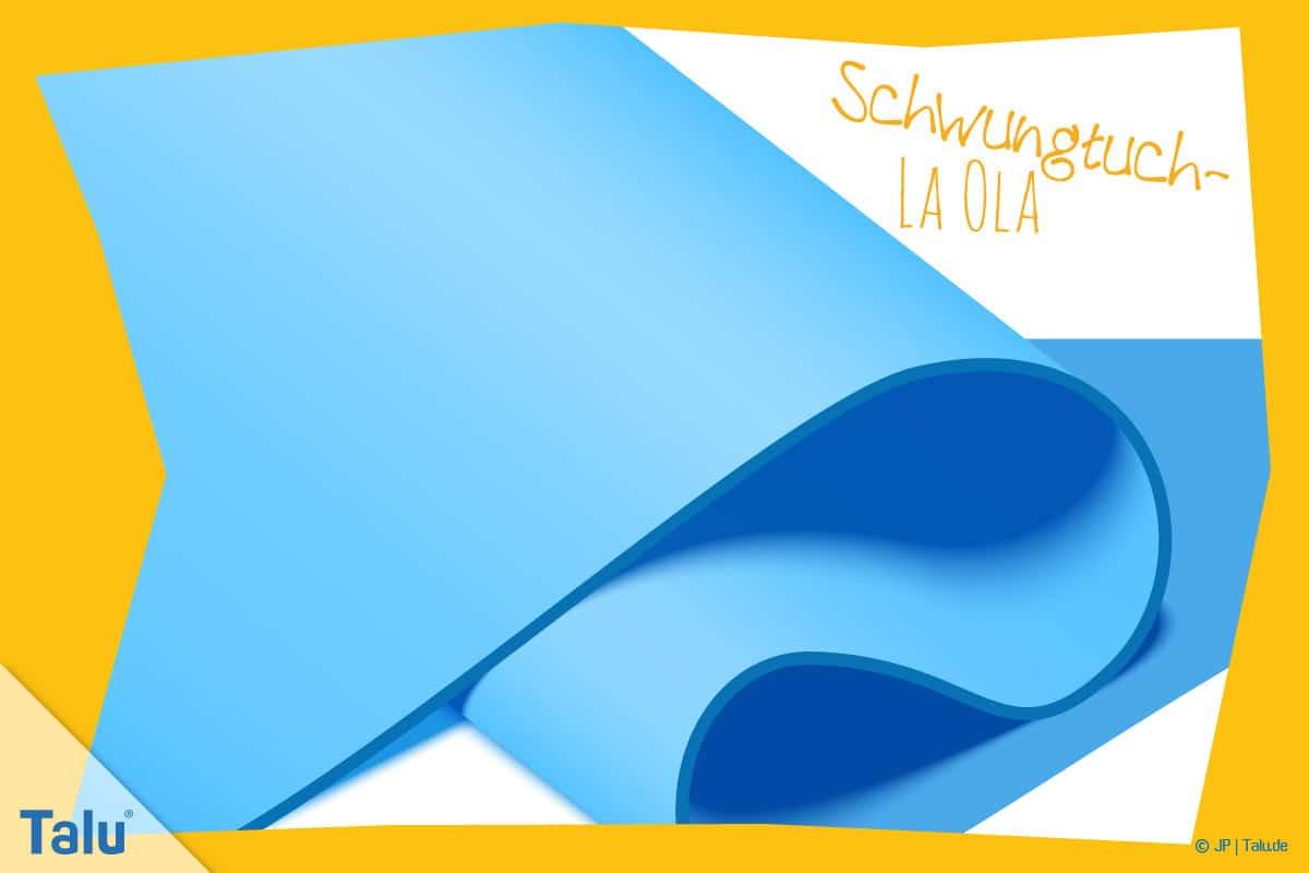 Schwungtuchspiele, Anleitung, Kindergeburtstag, Schwungtuch-Spiel-La-Ola