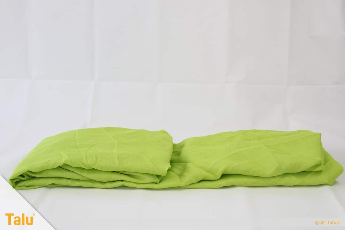 Spannbettlaken zusammenlegen in nur 20 Sekunden, Spannbettlaken zusammenklappen