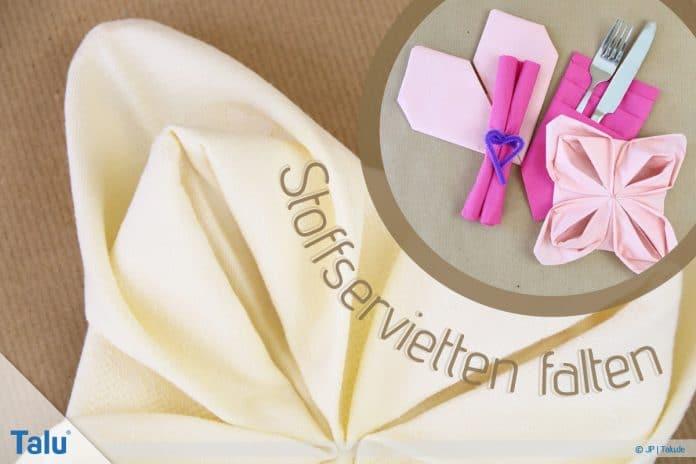 Stoffservietten falten, 7 Ideen für jeden Anlass, Hochzeit & Co.