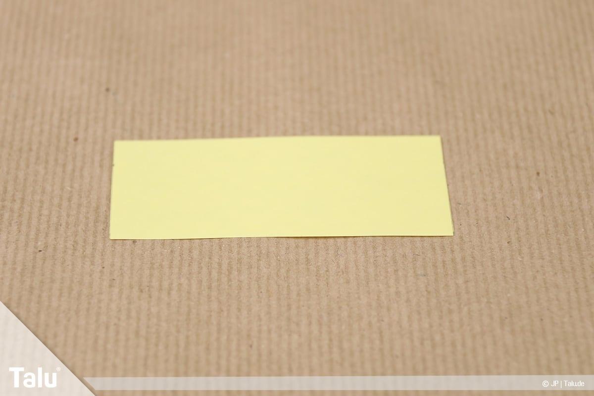 Abschiedsgeschenk für Kollegin basteln, Blumenstrauß, kleines Tonpapier-Rechteck
