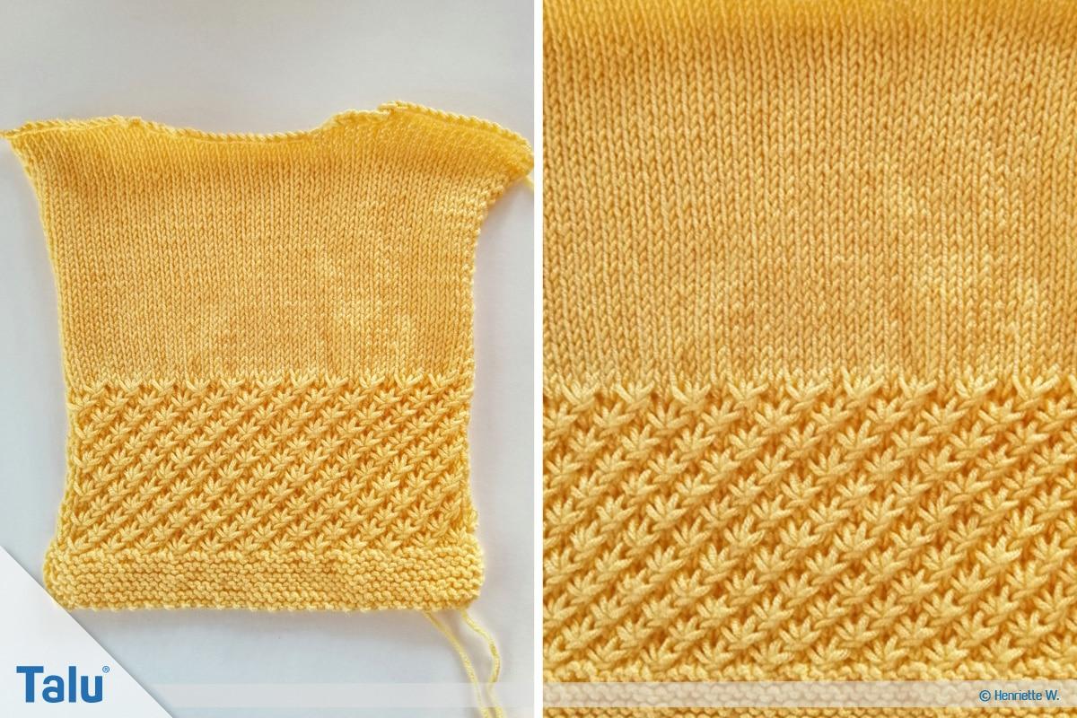 Babyjacke stricken, Anleitung Größe 56/62, angeschlagene Maschen fürs Rückenteil
