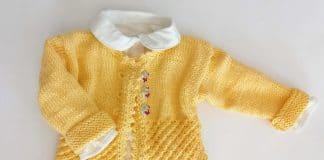 Babyjacke stricken, kostenlose Anleitung | Größe 56/62