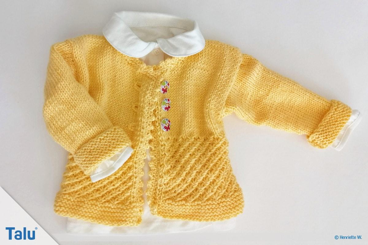 Babyjacke stricken: kostenlose Anleitung | Größe 5662