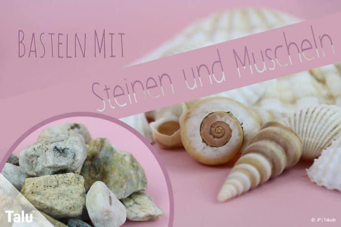 Basteln Mit Steinen Und Muscheln Ideen Für Kinder Talude