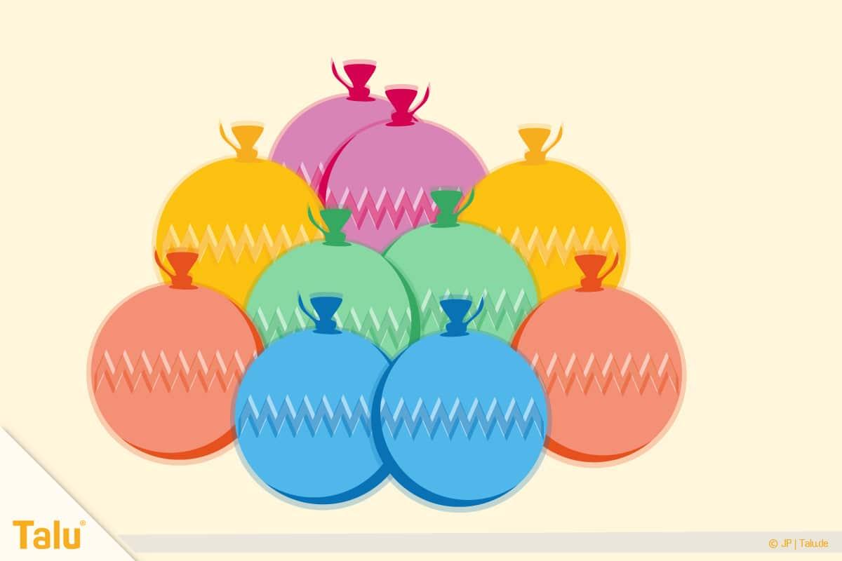 Dosenwerfen selber basteln, Anleitung, Luftballon-Bälle