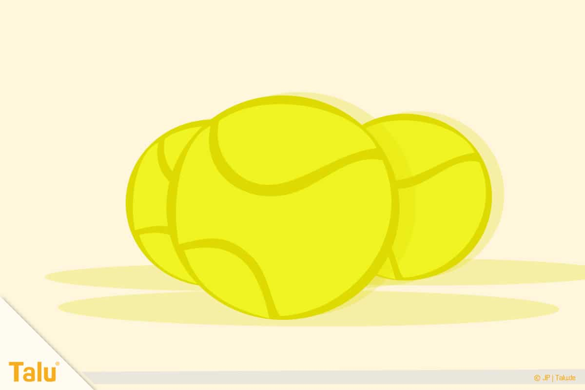 Dosenwerfen selber basteln, Anleitung, Tennisbälle