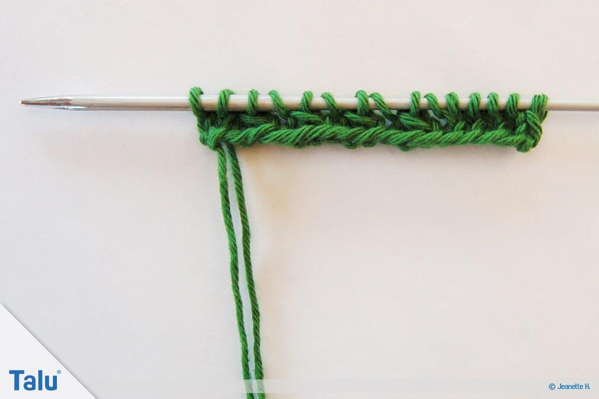 Netzmuster stricken, Fischernetz, Netzmuster Zwei, Beginn