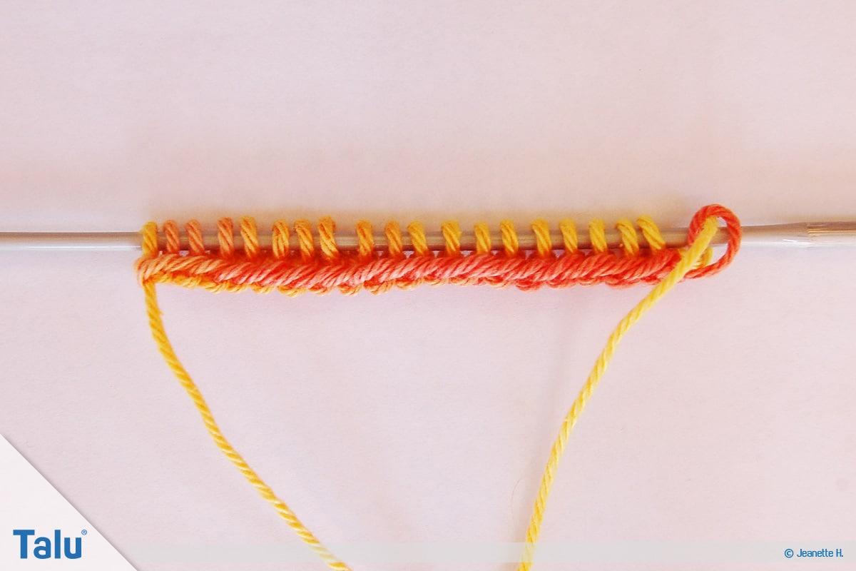 Netzmuster stricken, Fischernetz, Stirnband stricken, Maschenanschlag