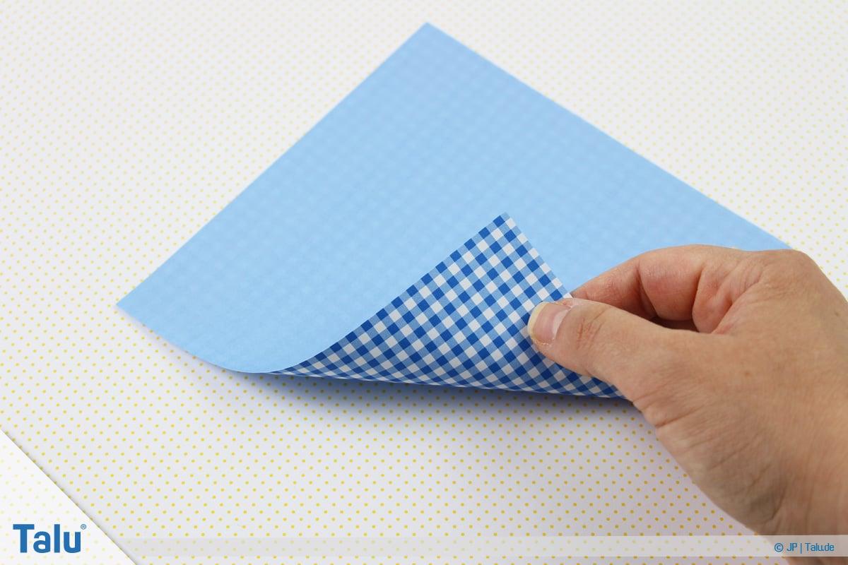 Origami Boot, Schiff basteln, erstes Schiffchen, Beginn