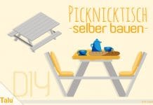 Picknicktisch selber bauen, Bauanleitung für Tisch und Bank