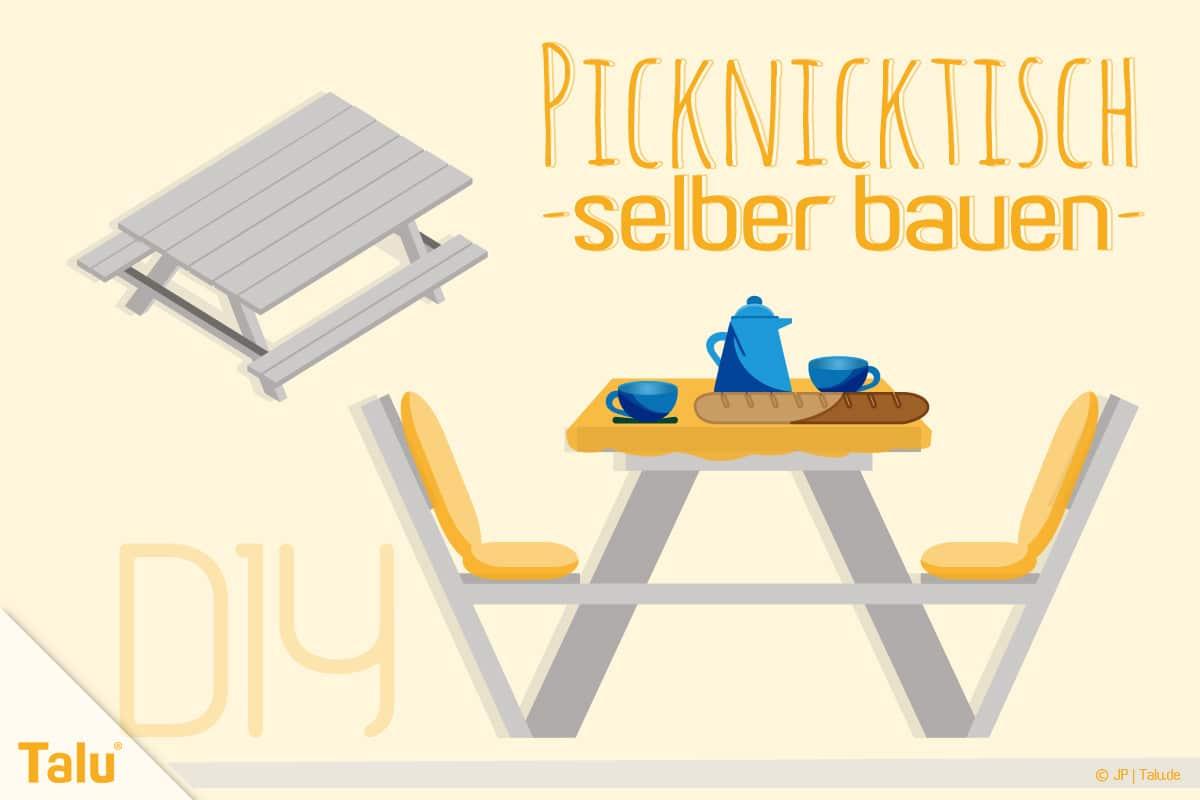 Picknicktisch Selber Bauen Bauanleitung Fur Tisch Und Bank Talu De