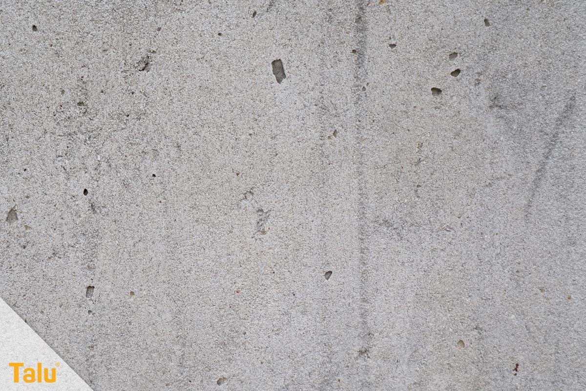 Styroporplatten kleben, Anleitung, Beton-Struktur