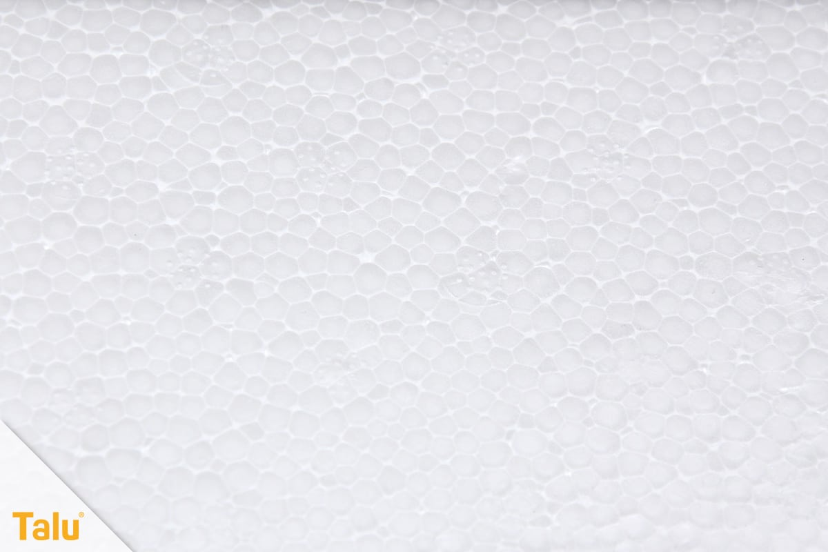 Styroporplatten kleben, Anleitung, Styropor-Struktur