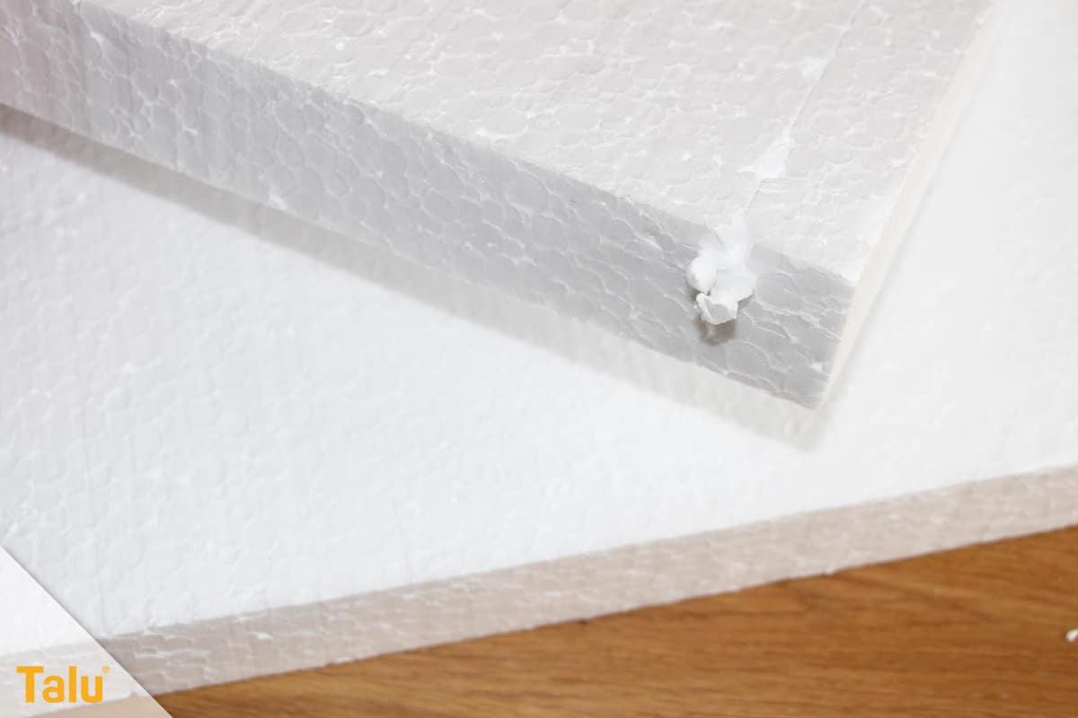 Styroporplatten kleben, Anleitung, Styropor-Platten