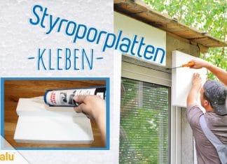 Styroporplatten kleben, DIY-Anleitung, Kleber für Styropor
