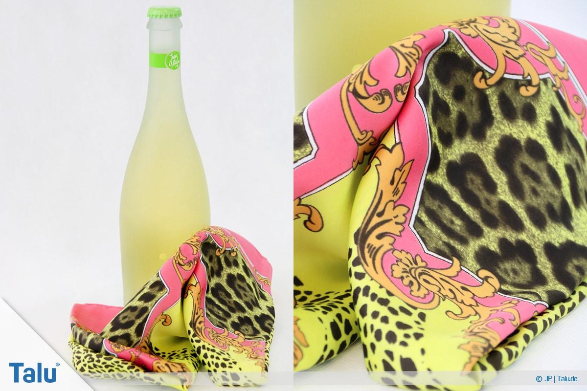 Furoshiki, Geschenke mit Stoff, Tüchern verpacken, Variante 3, Material