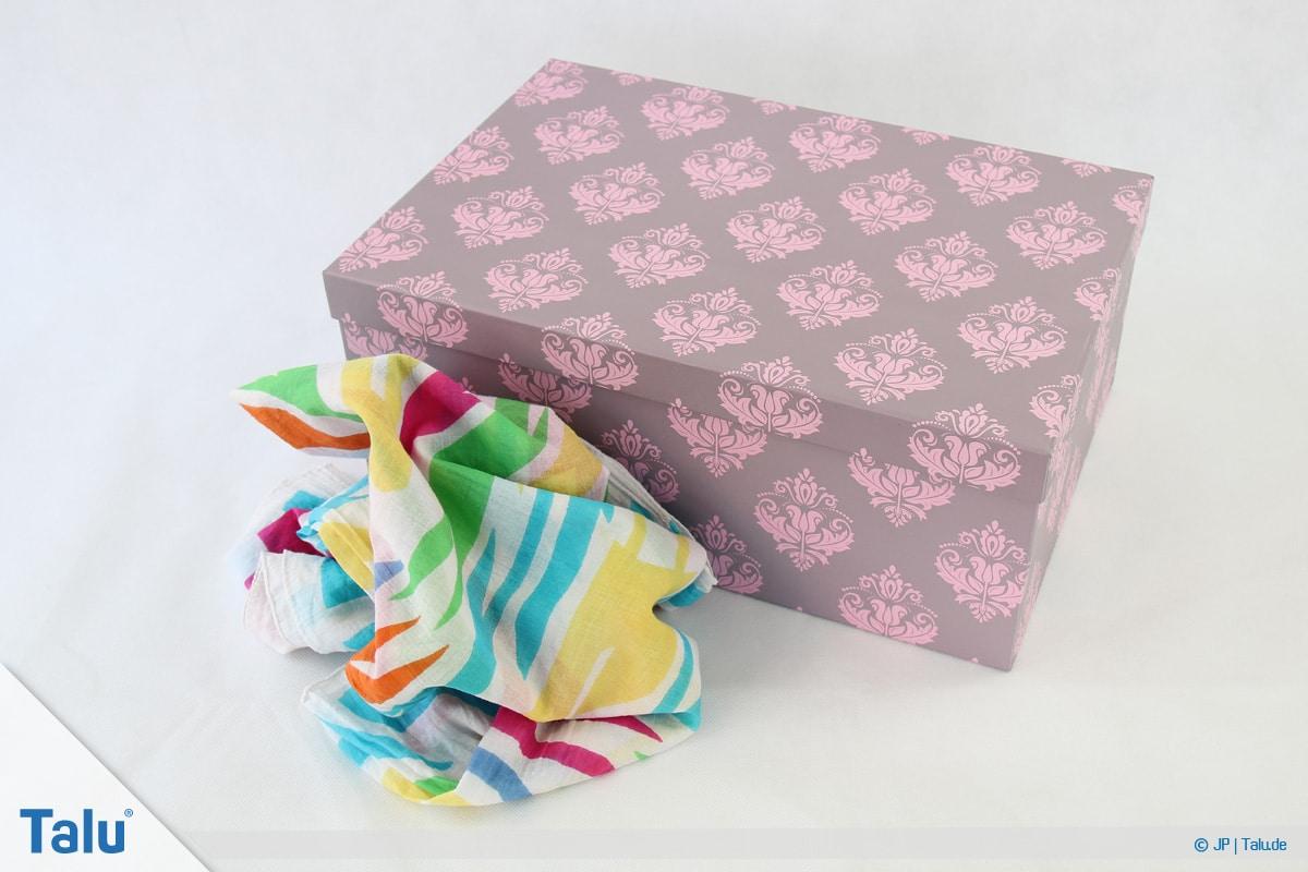 Furoshiki, Geschenke mit Stoff, Tüchern verpacken, Variante 1, Material