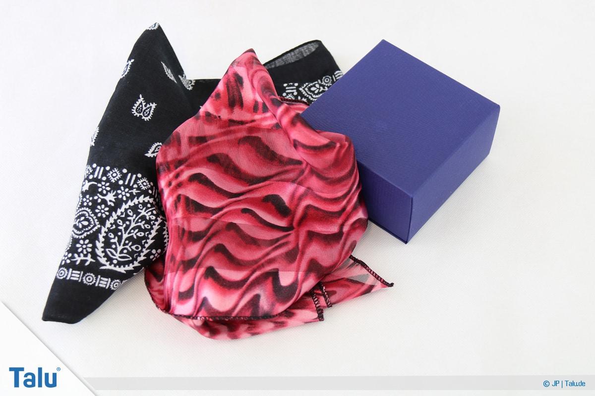 Furoshiki, Geschenke mit Stoff, Tüchern verpacken, Variante 2, Material