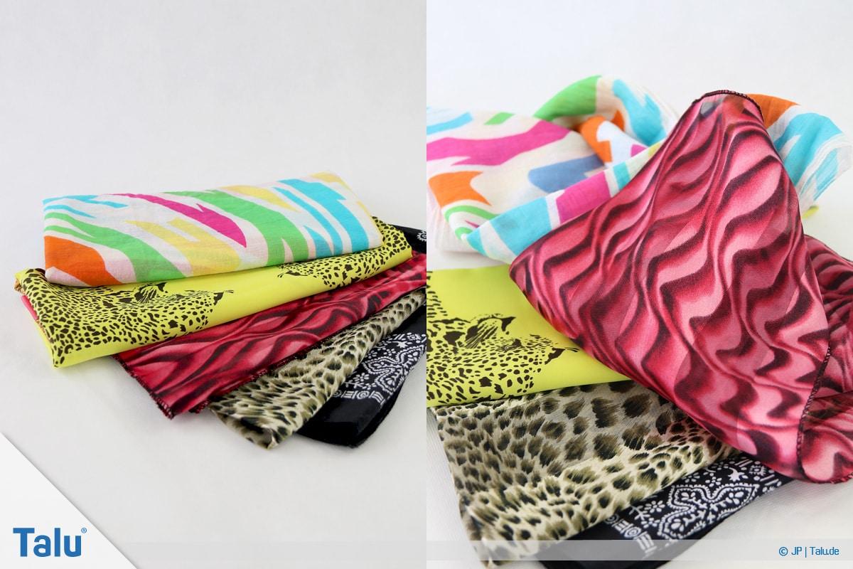 Furoshiki, Geschenke mit Stoff, Tüchern verpacken, Tücher