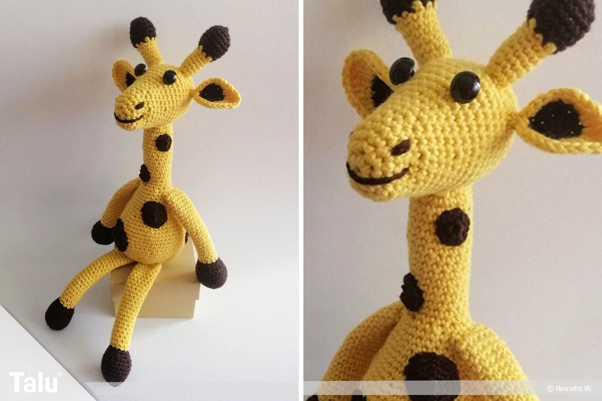 Giraffe häkeln, Amigurumi-Häkelgiraffe, fertige Häkelgiraffe
