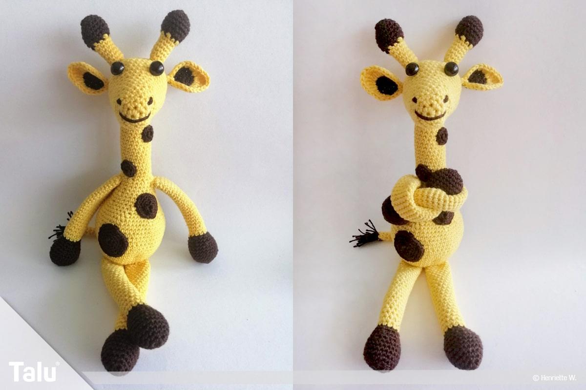 Giraffe häkeln, fertige Amigurumi-Häkelgiraffe