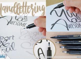 Handlettering lernen, DIY-Anleitung mit Vorlagen und Übungsblättern