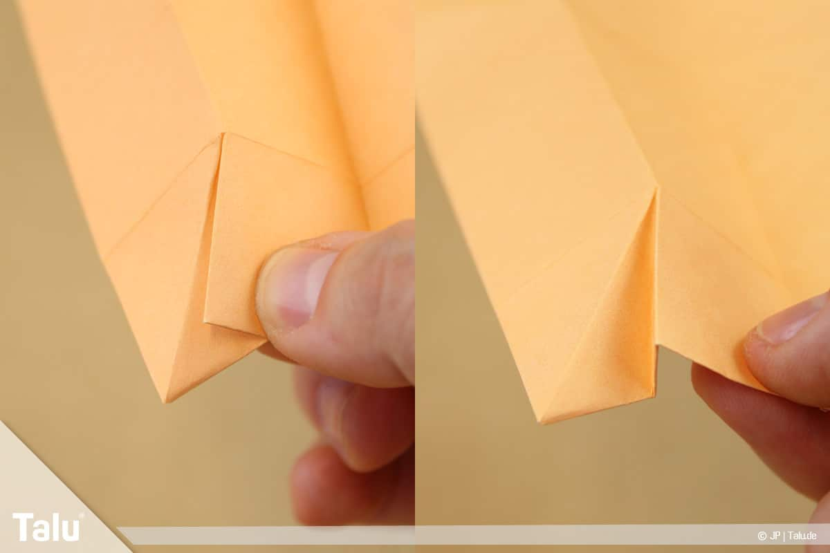 Haus aus Papier basteln, Papierhaus falten, Ecken-Faltungen