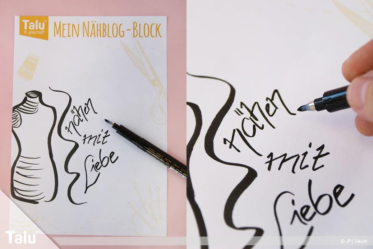 Kalligraphie lernen, Anleitung für Anfänger, Kalligraphieren im Alltag üben
