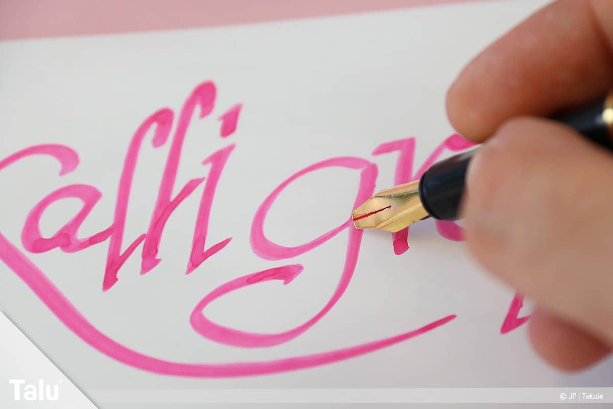 Kalligraphie lernen, Anleitung für Anfänger, Definition Kalligraphie