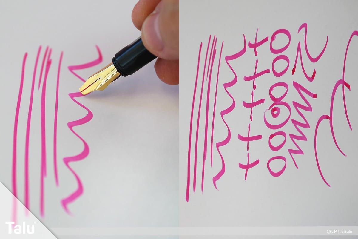 Kalligraphie lernen, Anleitung für Anfänger, Linien, Wellen und Co. üben