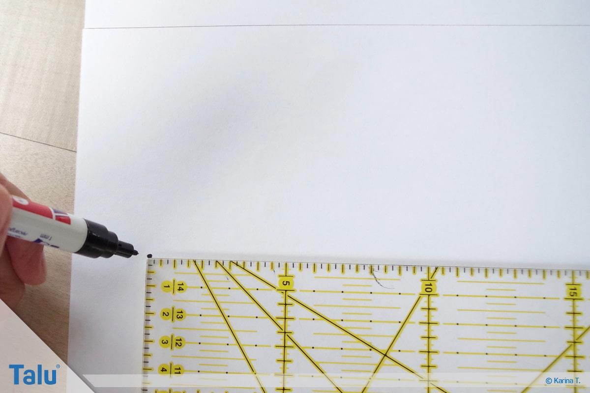 Kapuze nähen und annähen, Schnittmuster zu Papier bringen