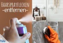 Haarsprayflecken, so entfernen Sie Haarspray von Türen und Wänden