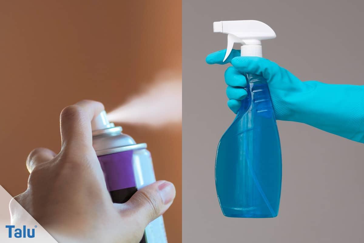 Haarsprayflecken, Haarspray entfernen, Glasreiniger