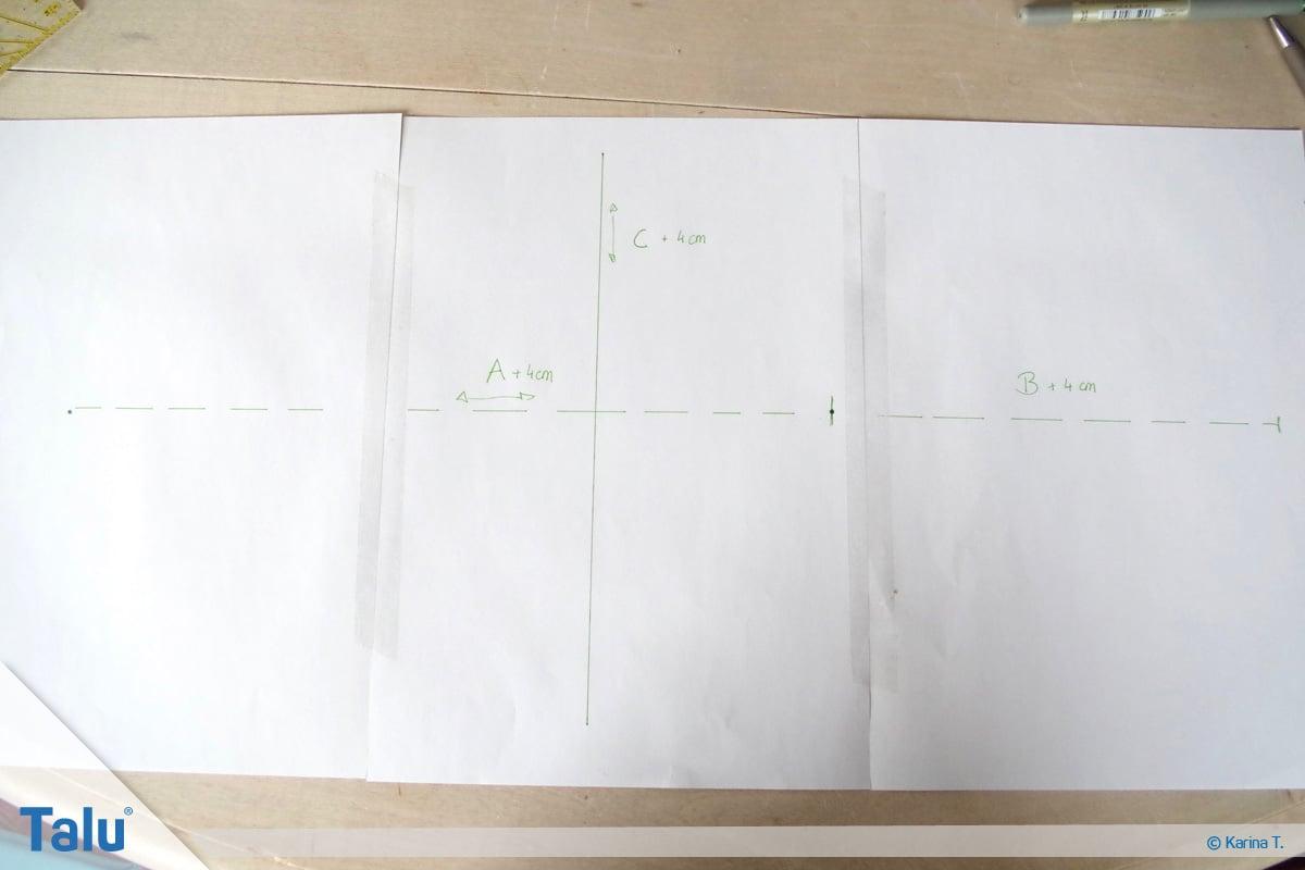 Hundemantel nähen, Schnittmuster-Zeichnung anfertigen