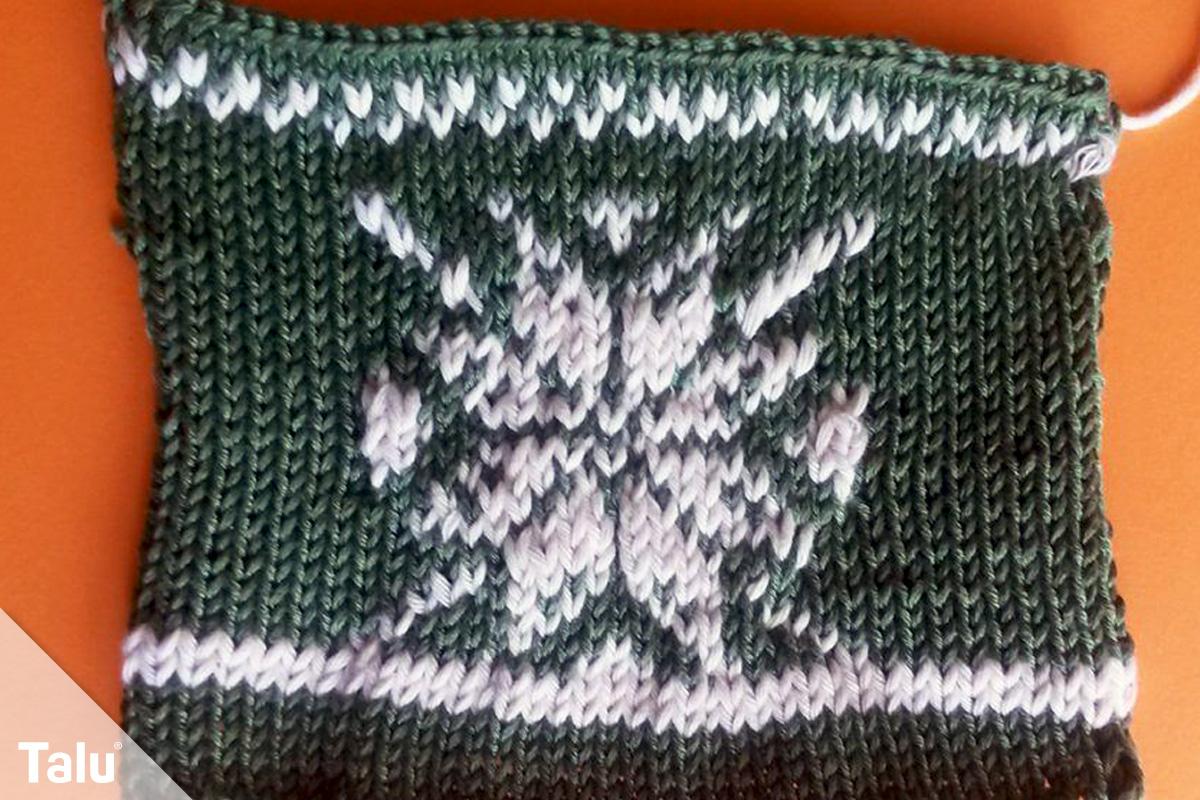 Strickmuster für Pullis, Pullover-Muster, Norwegermuster Schneeflocke