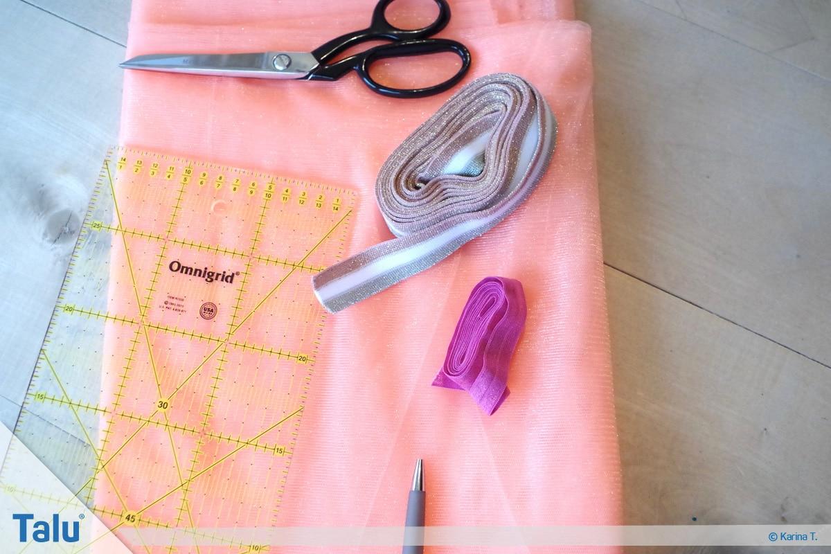 Tutu-Kleid/Rock selber machen, Anleitung, Material