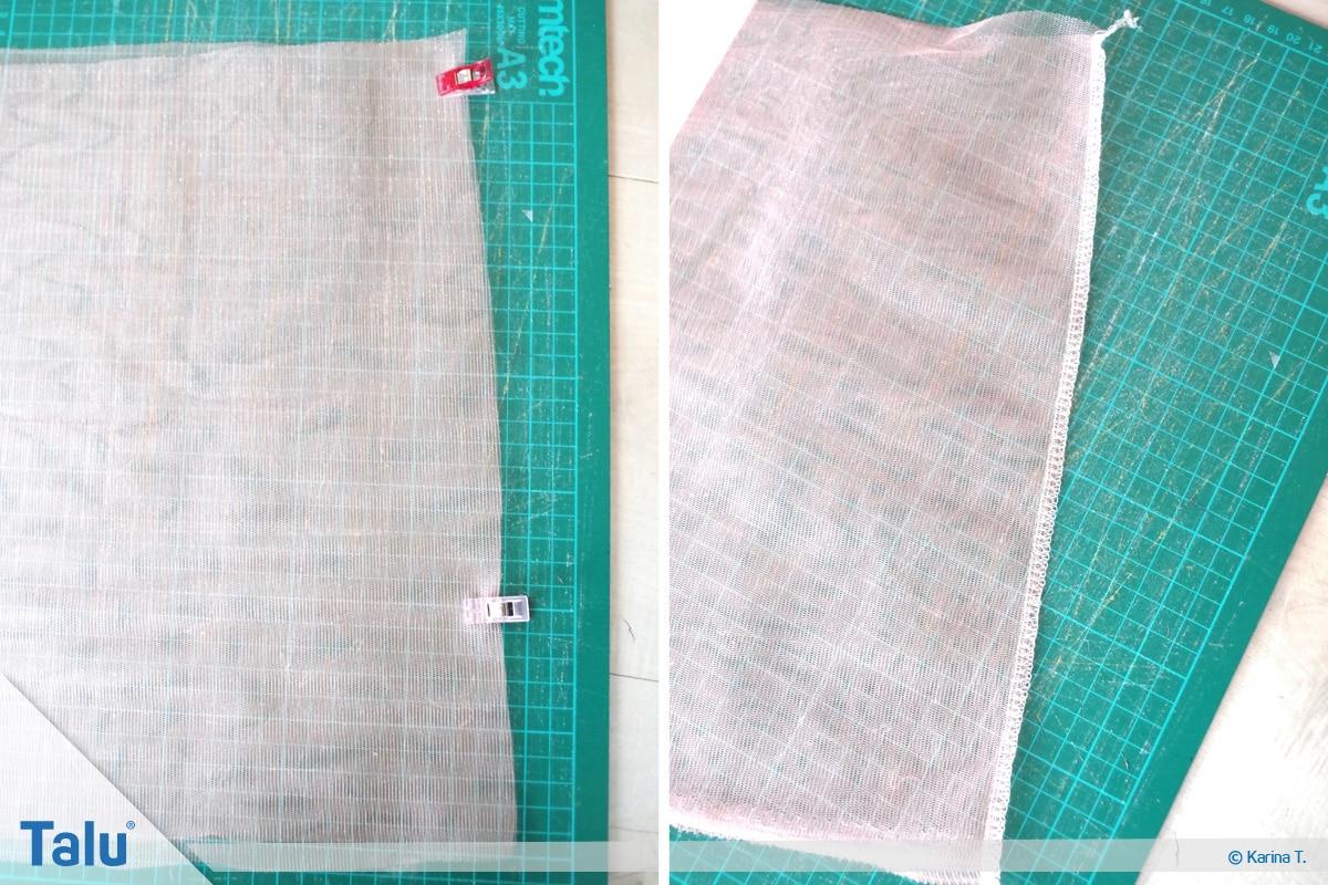 Tutu-Kleid/Rock selber machen, Anleitung, Tüll-Stoff-Bahnen zusammennähen