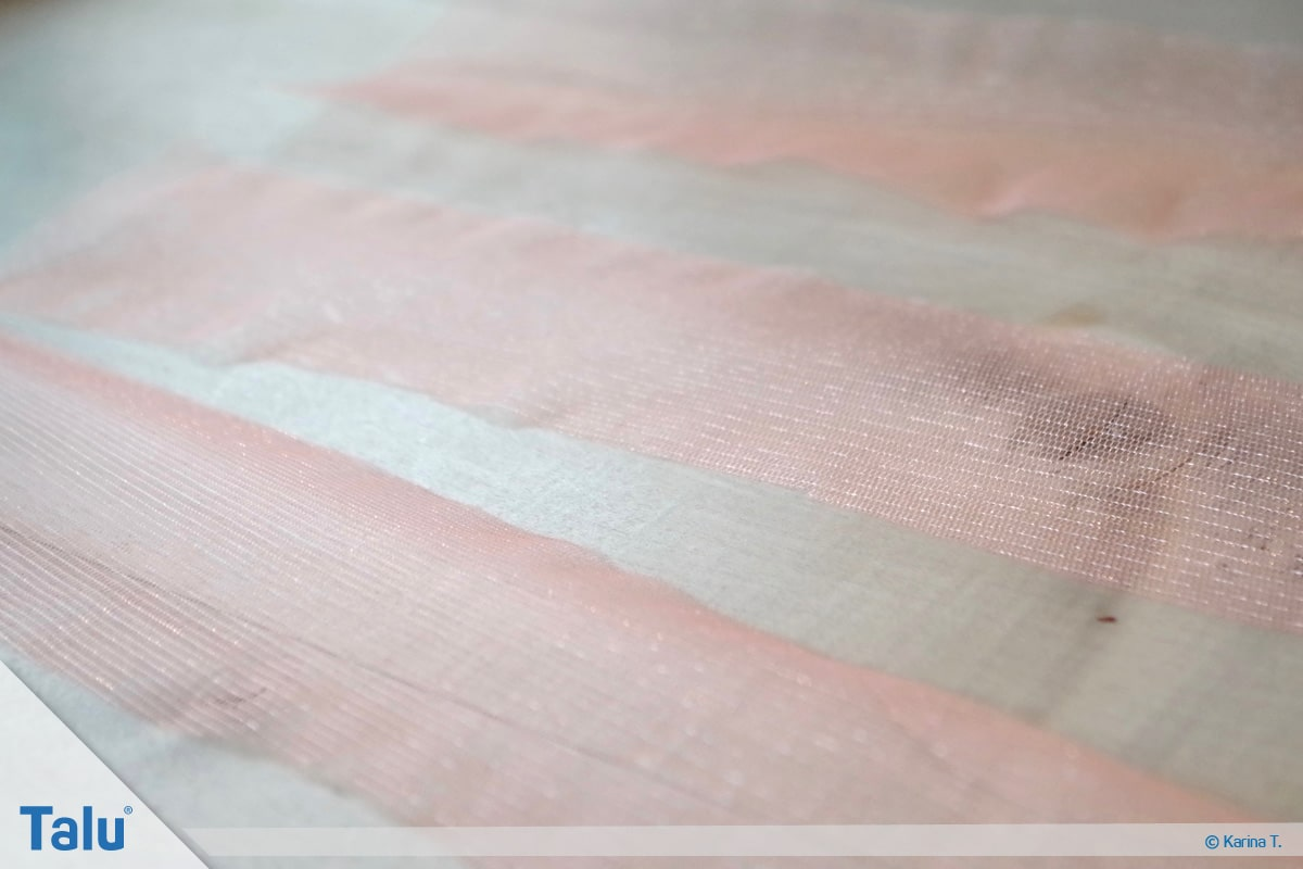 Tutu-Kleid/Rock selber machen, Anleitung, Tüll-Streifen